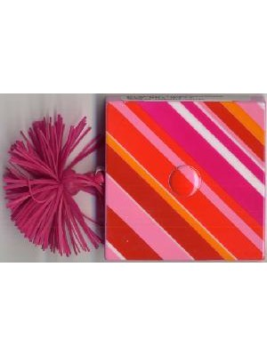 DECORATIVE TAPE MEASURE - PINK STRIPE